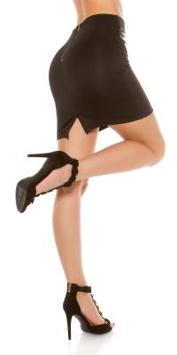 Fuste mini Sexy Waist piele ecologica