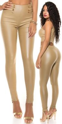 Pantaloni piele ecologica sexy talie inalta