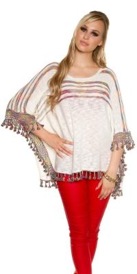 Poncho Bluze cu umerii goi la moda tricot _