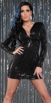 Rochii mini de club Sexy cu decolteu adanc si paietes