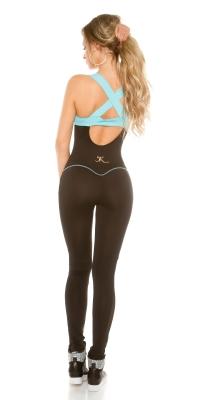Salopete dama la moda Workout cu plasa
