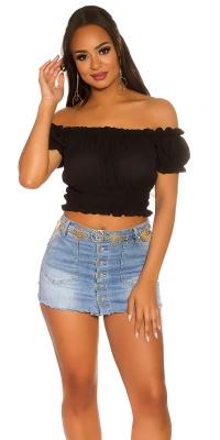 Sexy Crop Carmen Shirt