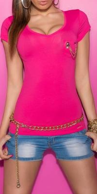 Bluze fashion dama mit Brust-Tasche