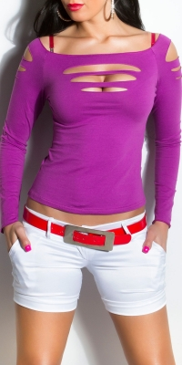 Bluza fashion Sexy long cu decupaje