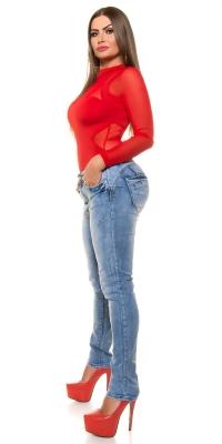 Blugi skinny Curvy Girls Size Blue washed