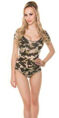 Body Sexy model camuflaj imprimeu