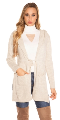 Cardigan la moda Hooded