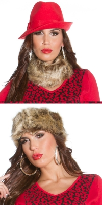 Esarfe dama la moda blana artificiala headband_loopit s up2u