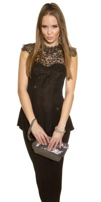 Glamour clutch cu lanturi si paiete