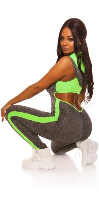 Hanorace Sexy aerobic Junpsuit cu spate sexy