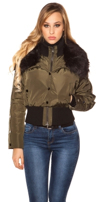 Jachete dama la moda winterdetachable blana artificiala