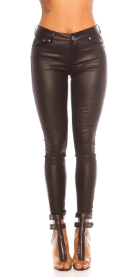 Pantaloni Sexy 5 buzunare piele ecologica