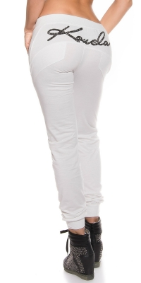 Pantaloni jogging la moda talie joasa fashion imprimeu
