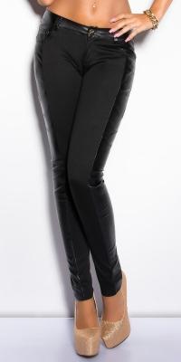 Pantaloni colanti sexy cu imitatie piele