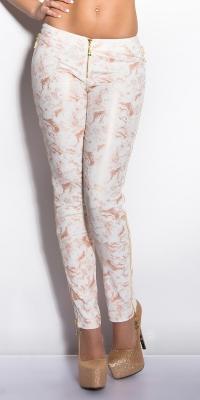 Pantaloni colanti sexy cu fermoar