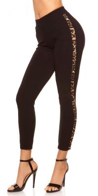 Pantaloni colanti la moda cu leopard stripes