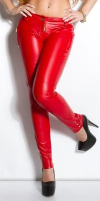 Pantaloni piele ecologica sexy cu buzunare