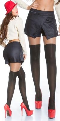 Pantaloni scurti Sexy 2 in1 in piele ecologica Jessica S Style