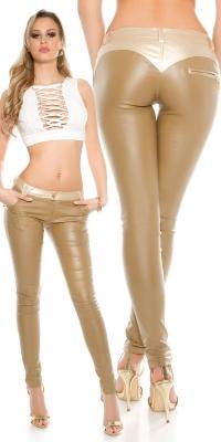 Pantaloni sexy piele ecologica