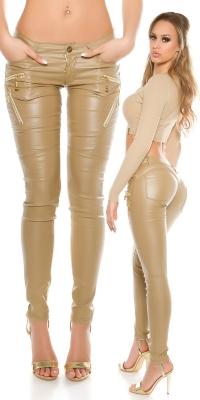 Pantaloni sexy piele ecologica cu decozips