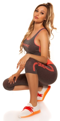 Pantaloni trei sferturi Colanti Maiouri dama la moda Workout Outfit