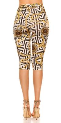 Pantaloni trei sferturi Pantaloni colanti la moda cu curea