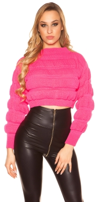 Pulover Sexy crop model gros tricot