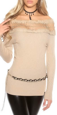 Pulovere sexy fine tricot cu pe umeri