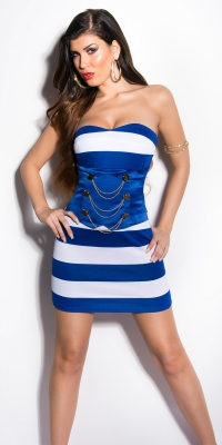 Rochie mini sexy in marine-look