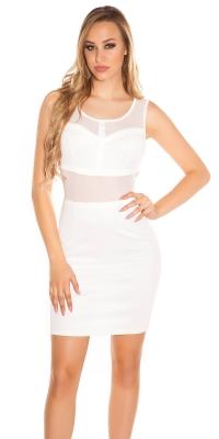 Rochie mini Sexy cu transparent cu decupaje