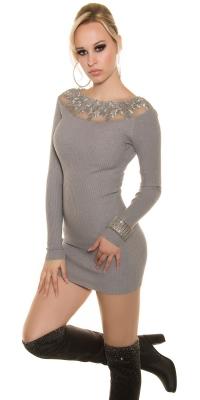 Rochii la moda tricot cu dantela