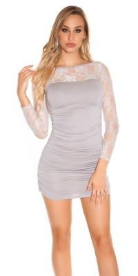 Rochie mini Sexy maneca lunga s & maneci transparente