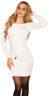 Rochii mini Sexy tricot cu siret