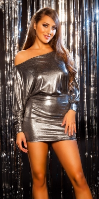 Rochie mini sexy de petrecere s aspect lucios
