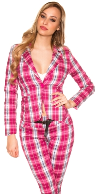 Sacouri Sexy waisted short checkered