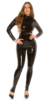 Salopeta sexy Latex-Look