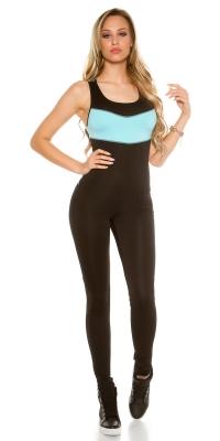 Salopete dama la moda aerobic cu plasa