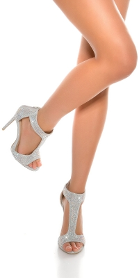 Sandale Sexy cu toc Ankle Strap