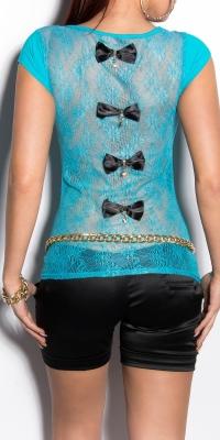 Bluze fashion dama cu spatele gol cu cu fundite