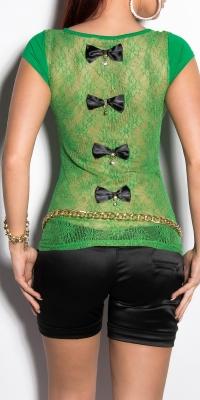 Bluze fashion dama cu spatele gol cu funditas