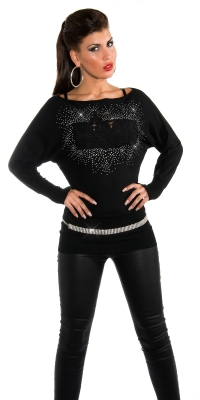 sexy bat ssweater Paris si strasuri