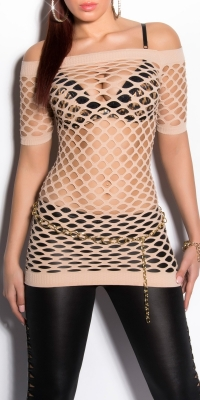 Sexy Net-Short-sleeve
