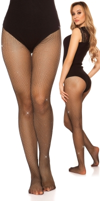 Sexy fishnet tights cu strasuri