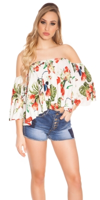 Sexy offshoulder top Coachella-Style