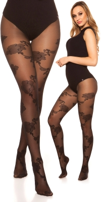 Sexy tights cu floral model