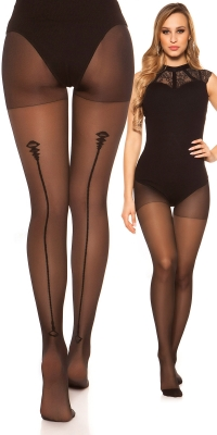 Sexy tights cu seam model