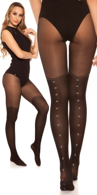 Sexy tights in overknee look