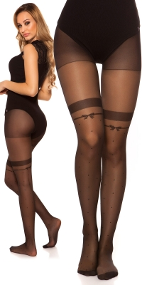 Sexy tights in overknee look cu buline