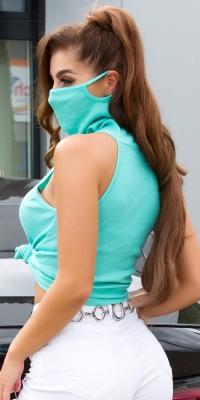Top tip helanca la moda cu cu masca integrata