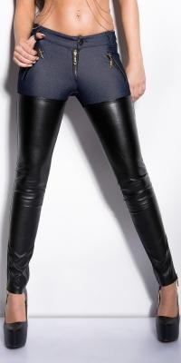 Pantaloni stramti la moda cu fermoar